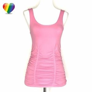 Laundry Shelli Segal Pink Ruched Tank A030636